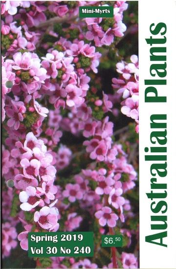 Cover of Spring 2019 issue of Australian Plants journal