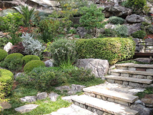 Sandstone steps at Joan Zande garden